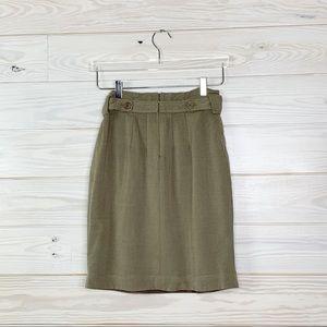BCBGMAXAZRIA Stella Paper Bag Linen Skirt Size 2